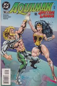 Aquaman defeats Wonderwoman