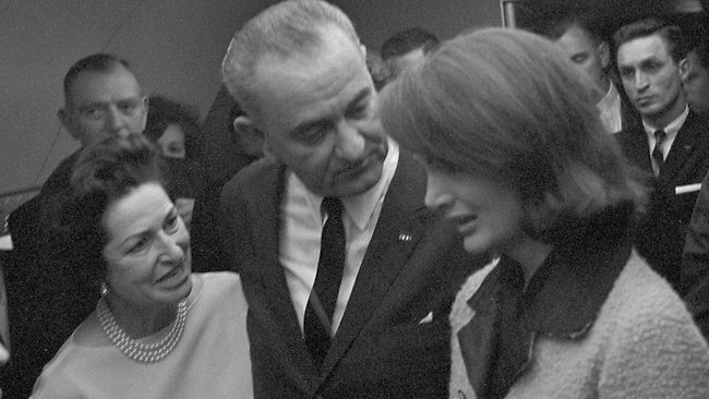 LBJ takes oath of office