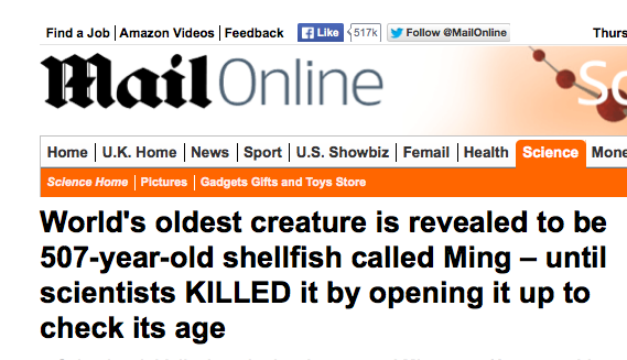 world's oldest animal killed